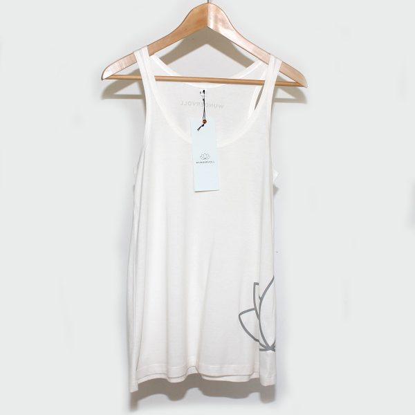 WUNDERVOLL Lotus Shirt, Organic Cotton, Fair Trade, Handprinted
