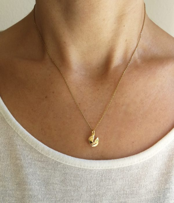 Wundervoll, Fortune Cookie, Necklace, Chinese New Year Edition, fine jewelry, gold