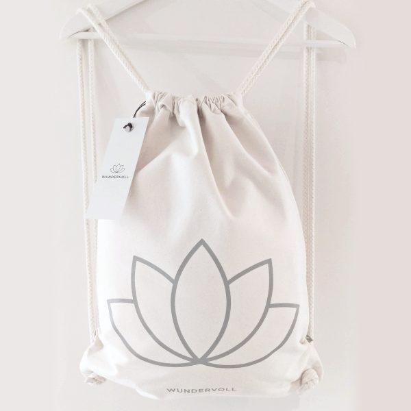 Wundervoll, Gymsac, Bag, Organic Cotton, Handprinted, handbedruckt