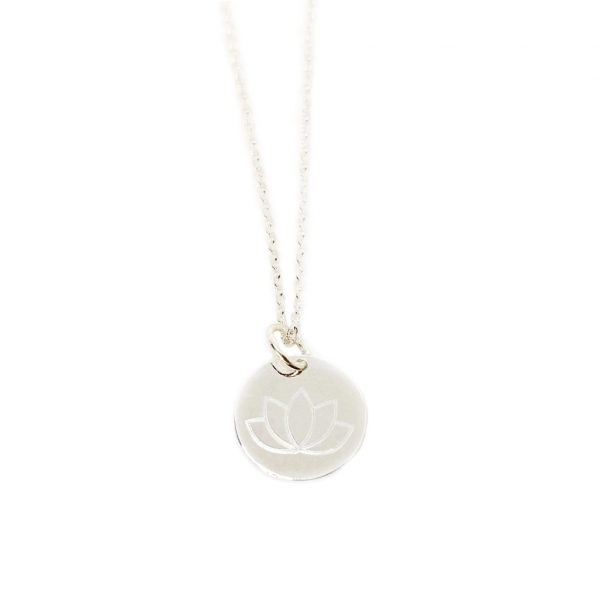 Wundervoll Halskette Silber Lotus