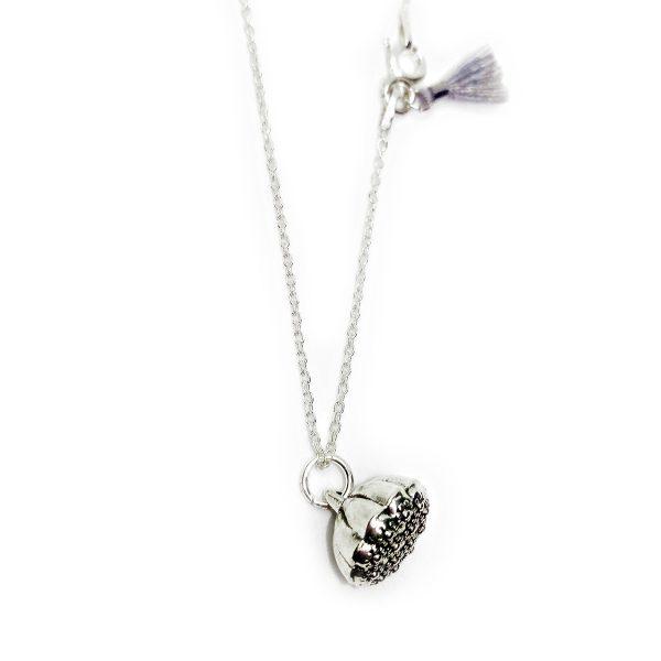 My little LOTUS, Wundervoll, Necklace, Halskette, handmade, silver, 925, Tassle
