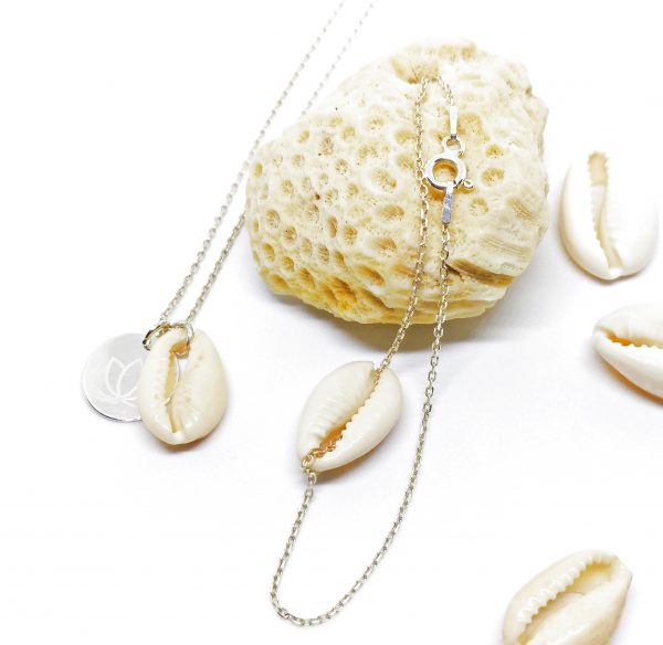 Tonga Kauri Wundervoll Silber Necklace Bracelet handmade