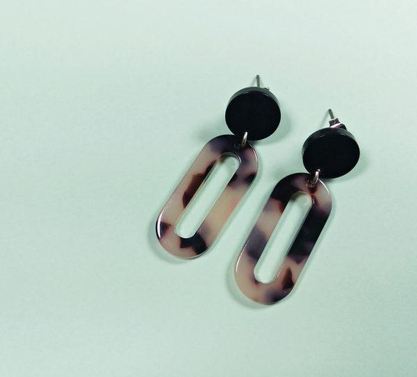 URBAN JUNGLE COLLECTION Tortoise Loop Blanca Earrings