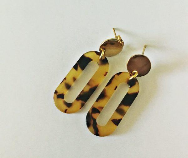 URBAN JUNGLE COLLECTION Tortoise Loop Allegra Earrings