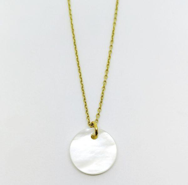 Punto necklace souvenir del mar collection perlmutt wundervoll