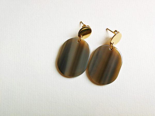 URBAN JUNGLE COLLECTION LARA Gold Black Earrings